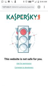 Blocks unsafe websites