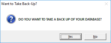 Take Backup