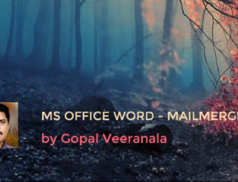How to Use Mail Merge feature in MS WORD(TELUGU) by Sujismartsolutions